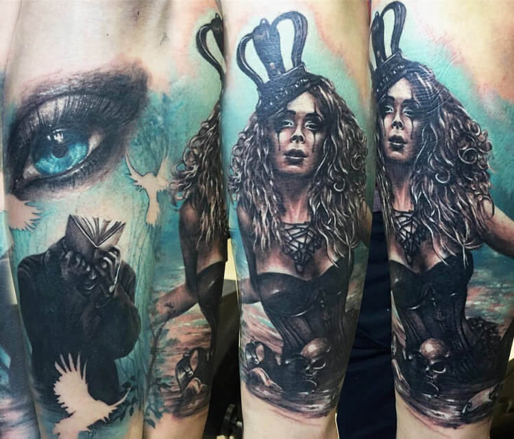 Dark queen tattoo by Zsofia Belteczky