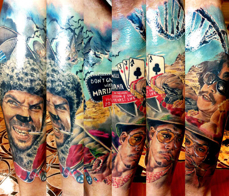 Fear and Loathing in Las Vegas tattoo by Zsofia Belteczky