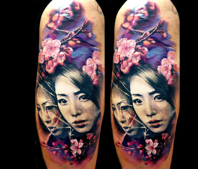 Geisha Japan tattoo by Zsofia Belteczky