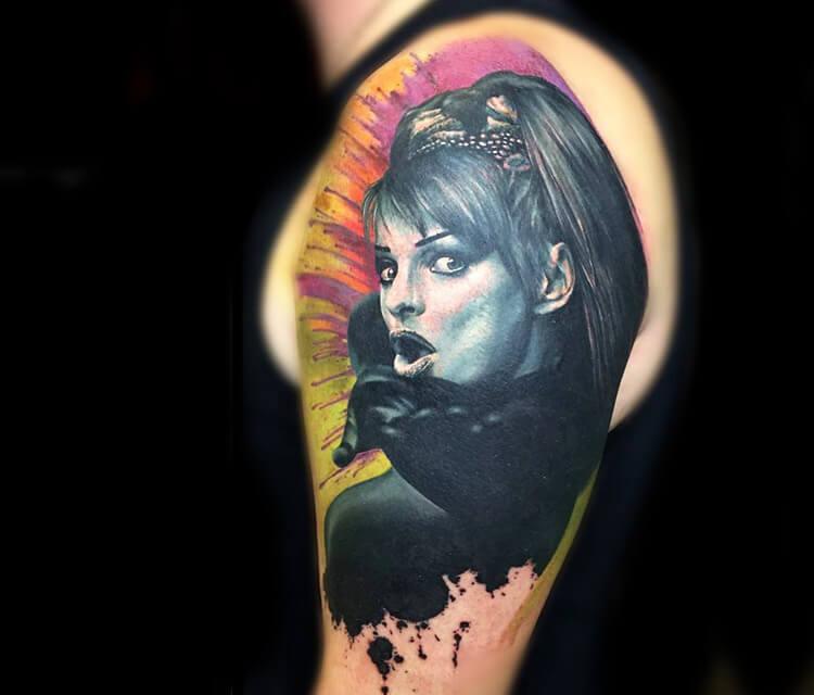 Nina Hagen tattoo by Zsofia Belteczky