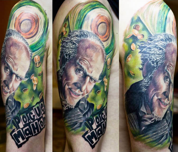 Pogue Mahone tattoo by Zsofia Belteczky